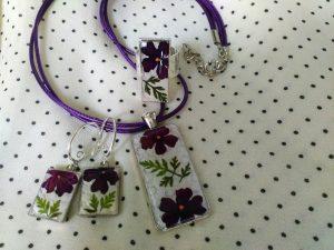 Бижута ръчна изработка с цветя