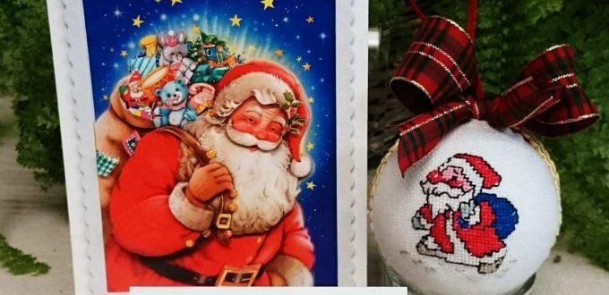 Коледна идея за подарък с тема дядо Коледа ръчна изработка