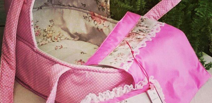 Преносимо порт бебе от розов плат